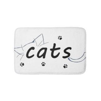 Cats love bath mat