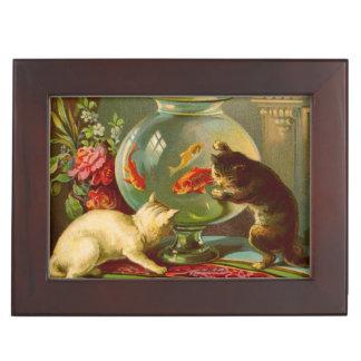 Cats Love Fish Keepsake Box