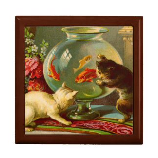 Cats Love Fish Wooden Keepsake Box