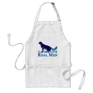 Cats Love Real Men Standard Apron