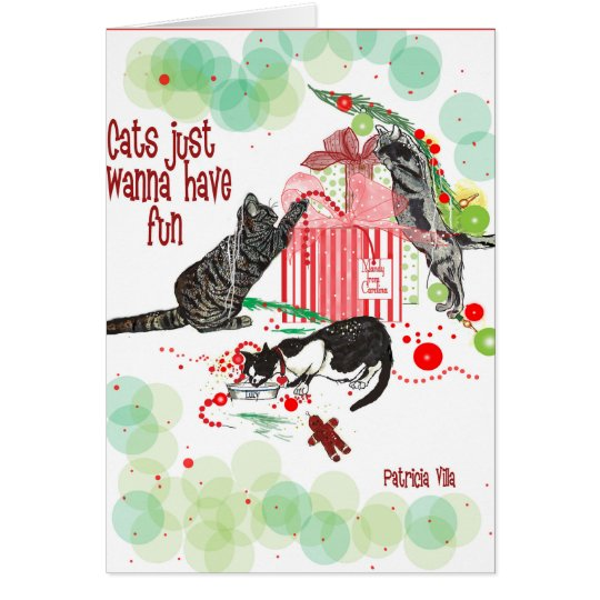 cats Lovers Christmas Card