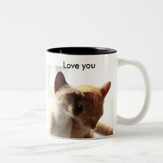 Cats lovers Two-Tone coffee mug
