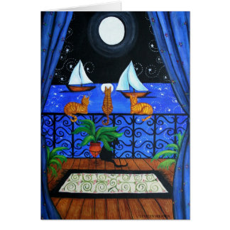 Cats Magical Night Nite Magic Card