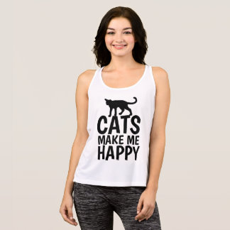CATS MAKE ME HAPPY,  Cat T-shirts & Tank tops
