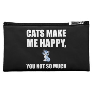 Cats Make Me Happy You Not So Much Funny Makeup Bag