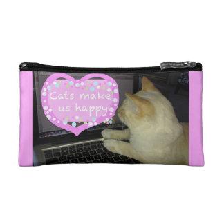 Cats make us happy cosmetics credit card case