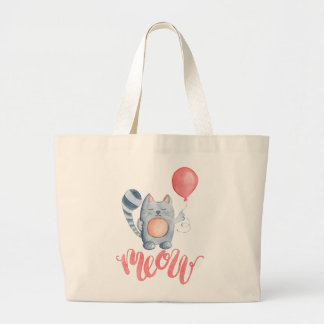 Cat's Meow Large Tote Bag