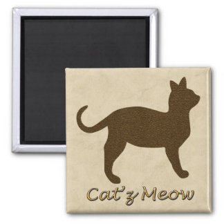 Cat's Meow Square Magnet