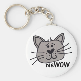 Cat's MeWOW Customizable Keychain