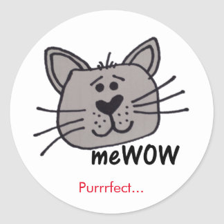 Cat's meWOW Good Job Reward Customizable Sticker