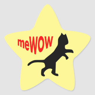Cat's meWOW Star Great Job Sticker
