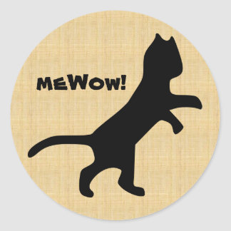 Cat's meWOW Wood Customizable Great Job Sticker