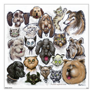 Cats n Dogs Wall Sticker