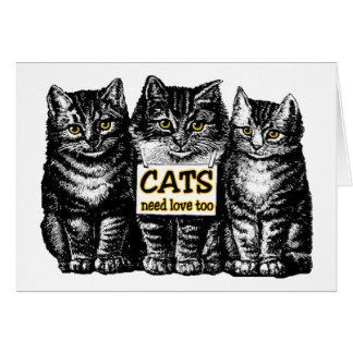 Cats Need Love Cards