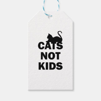 Cats Not Kids Gift Tags
