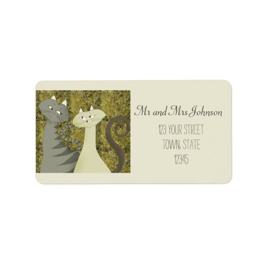 Cats Old Gold Twosome Address Label