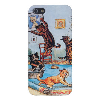 Cats on a Cleaning Spree by Louis Wain iPhone 5 Cover