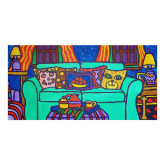 Cats on a Couch by Piliero Photo Card