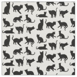 Cats on Any Background Fabric