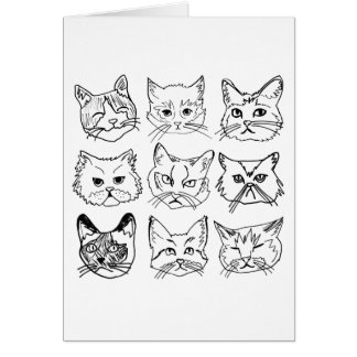 Cats on Cats on Cats - Folded Card (centered)
