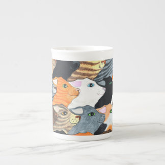 Cats on Parade Bone China Mug