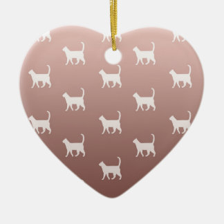 Cats on Rose Gold Ceramic Ornament