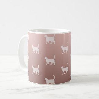 Cats on Rose Gold Coffee Mug