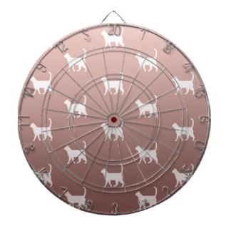 Cats on Rose Gold Dartboard