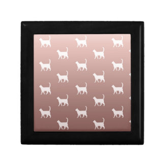 Cats on Rose Gold Gift Box
