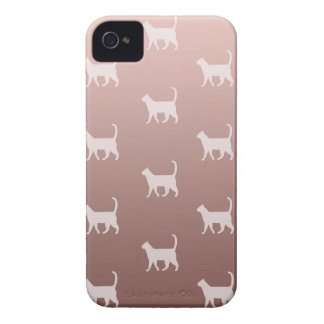 Cats on Rose Gold iPhone 4 Cases