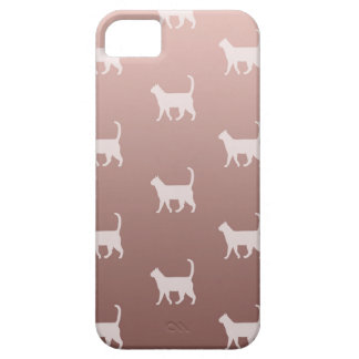 Cats on Rose Gold iPhone 5 Case
