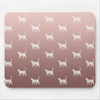 Cats on Rose Gold Mouse Pad