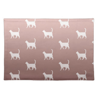 Cats on Rose Gold Placemat