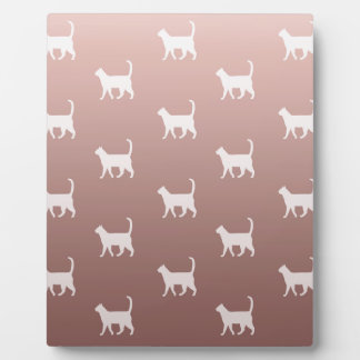 Cats on Rose Gold Plaque