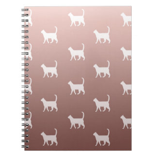 Cats on Rose Gold Spiral Notebook
