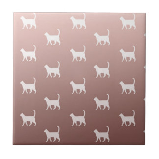 Cats on Rose Gold Tile