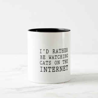 Cats On the Internet Two-Tone Coffee Mug
