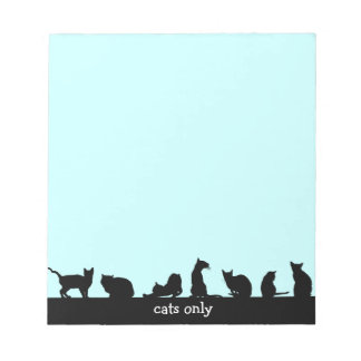 cats only notepads