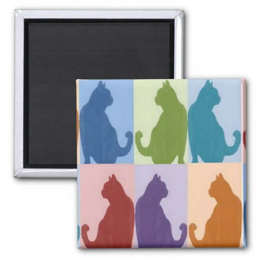 Cats Pastel Silhouette Magnet
