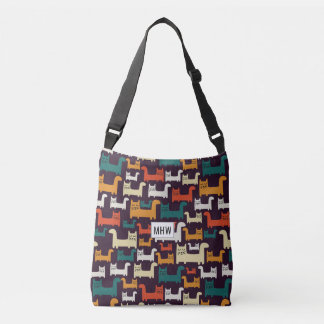 Cats Pattern custom monogram bags