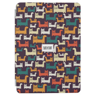 Cats Pattern custom monogram device covers iPad Air Cover