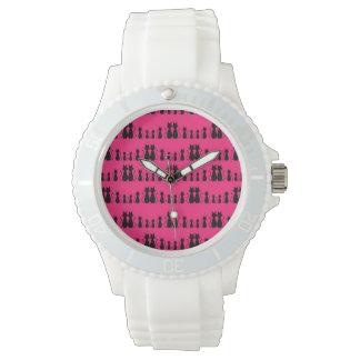 Cats Pattern Wristwatch