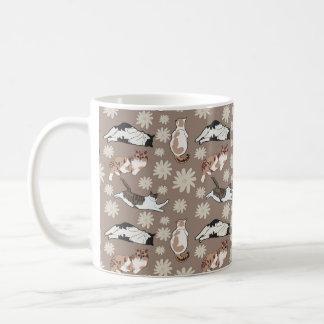 Cats patterns coffee mug