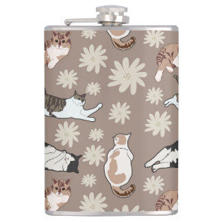 Cats patterns hip flask