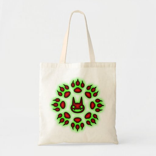Cats Paw Circle Trick or Treat tote Canvas Bags