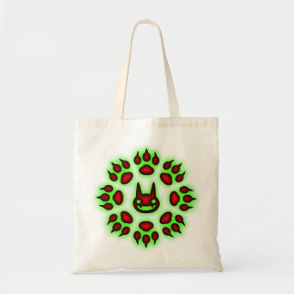 Cats Paw Circle Trick or Treat tote Budget Tote Bag
