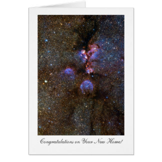 Cats Paw Nebula, Congratulations on Your New Home Card