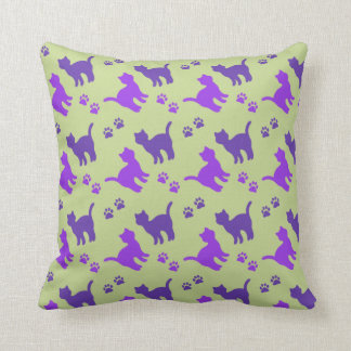 Cats & Paw Prints MoJo Throw Pillow