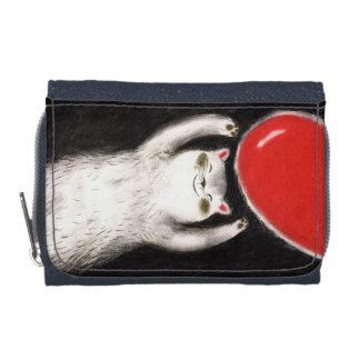 cats pets denim WALLET