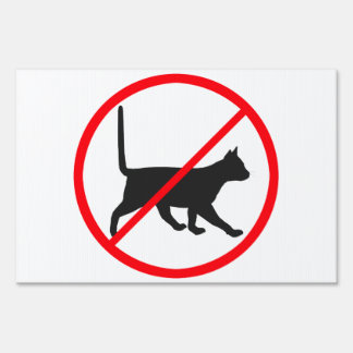 Cats Prohibited! Sign